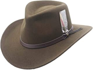 Silver Canyon Boot and Clothing Company Men's Outback Wool Cowboy Hat Montana Crushable Western Felt