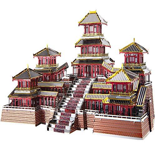 piececool 3D Lasergeschnittenes DIY traditionelles chinesisches Architekturmodell Metallmodell-Puzzles für Erwachsene- EPANG PALACE-186pcs