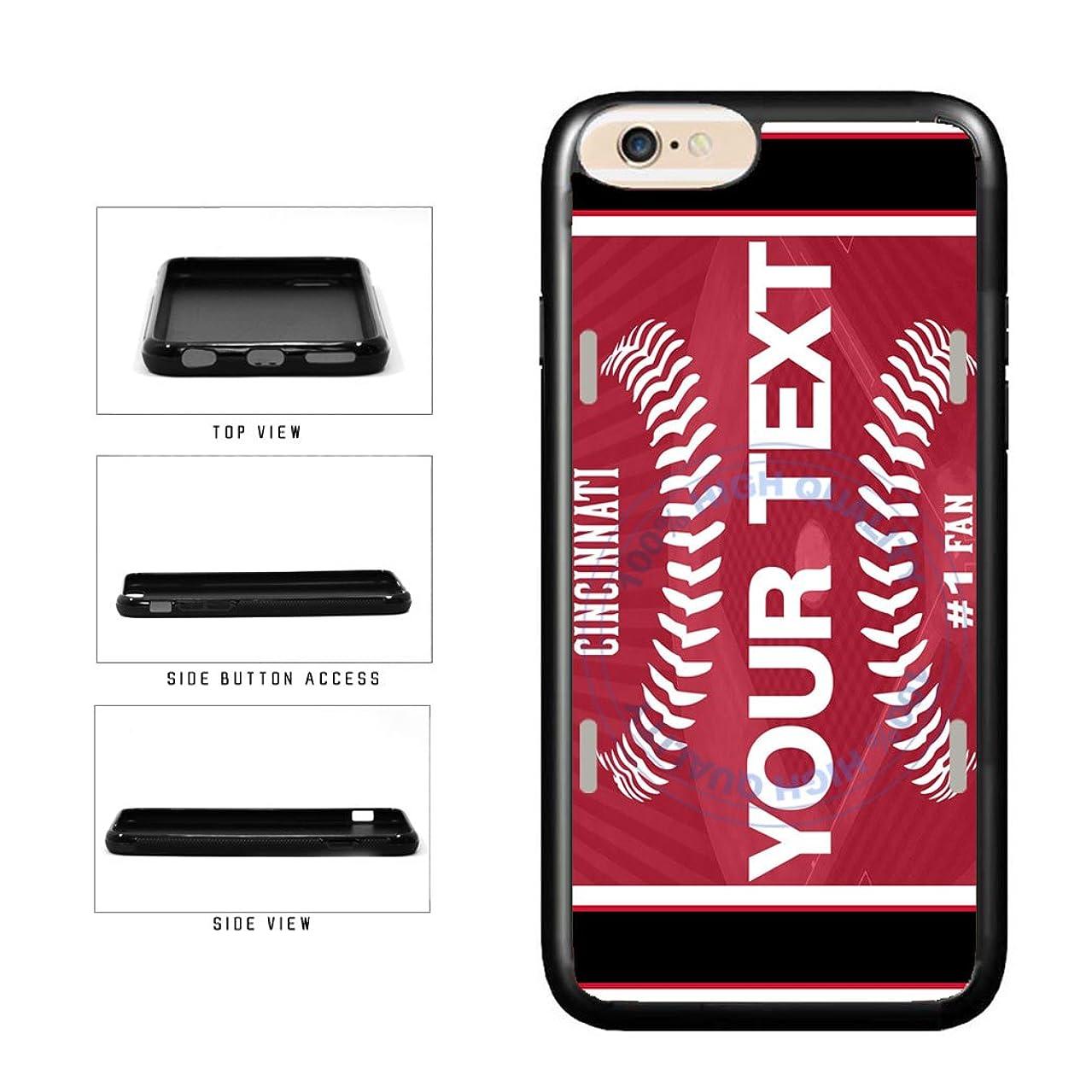 BleuReign(TM) Personalized Custom Name Baseball Cincinnati License PlateTPU RUBBER SILICONE Phone Case Back Cover For Apple iPhone 7