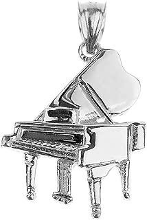 925 Sterling Silver Music Charm Grand Piano Pendant