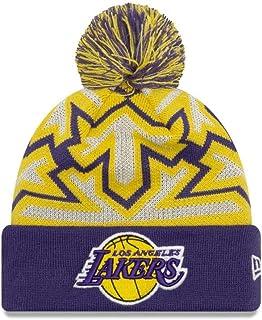 2df8ad71bda New Era Cuff Glowflake Beanie Hat with POM POM - NBA Glow in Dark Cuffed  Winter