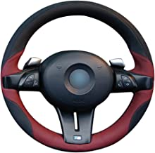 Loncky Auto Genuine Leather Steering Wheel Covers for BMW Z4 M Roadster Coupe 2006 2007 2008 Accessories