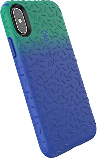 Speck Products CandyShell Fit iPhone Xs/iPhone X Case, Evergreen Green Ombre Blueberry Blue/Blueberry Blue