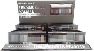 CITY COLOR The Smokeys Eyeshadow Palette Display Set, 12 Pieces (並行輸入品)