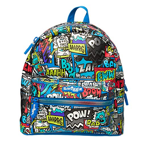 Smiggle Itsy Bitsy Small Junior Backpack for Boys and Girls with 2 Zipped Compartments and Adjustable Shoulder Straps   with Cape