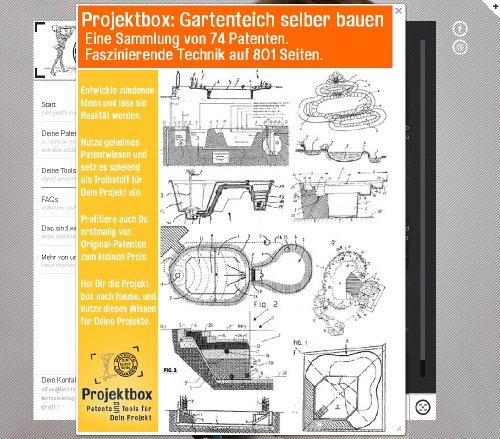 Gartenteich selber bauen: Deine Projektbox inkl. 801 Seiten Original-Patente bringt Dich mit Spaß ans Ziel!