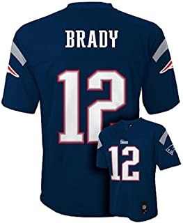 Tom Brady New England Patriots NFL Youth Navy Home Mid-Tier Jersey (Size Small 8)