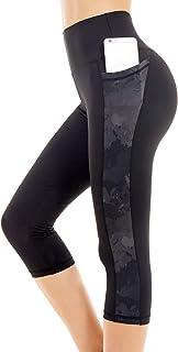 Picotee Women's Long Yoga Pants High Waist Workout Capri Leggings Running Active Tights w Side Pocket