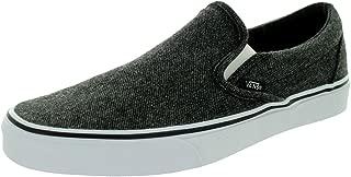Vans Unisex Classic Slip-On Black/True White Skate Shoe 11 Men US