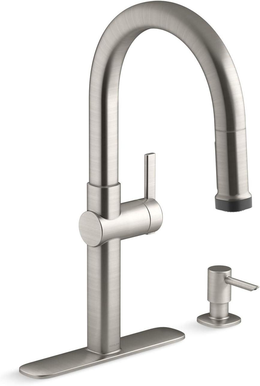Home Improvement Kohler Elmbrook Single Handle Pull Down Sprayer Kitchen Faucet Vibrant Plumbing Fixtures