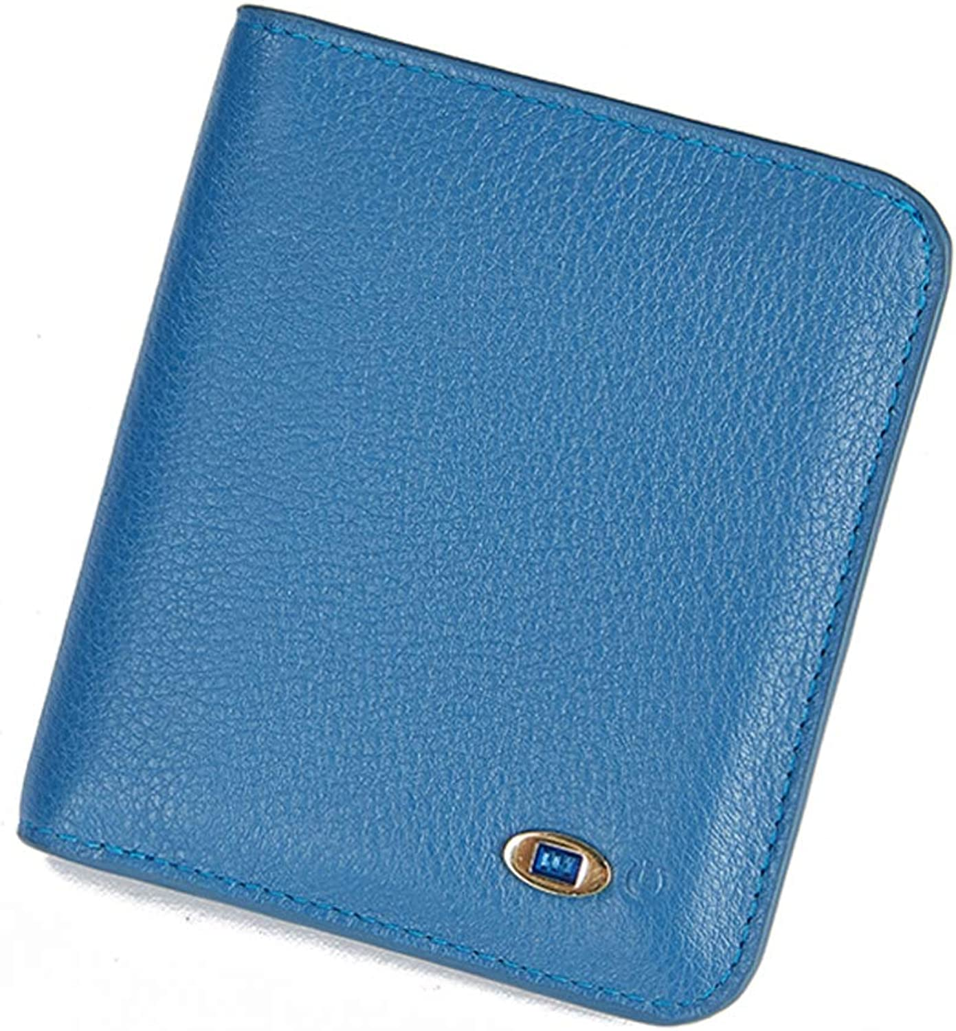 Leather Ladies Smart AntiLost AntiTheft Wallet, Fashion MultiCard Purse Female Card Package ID Package