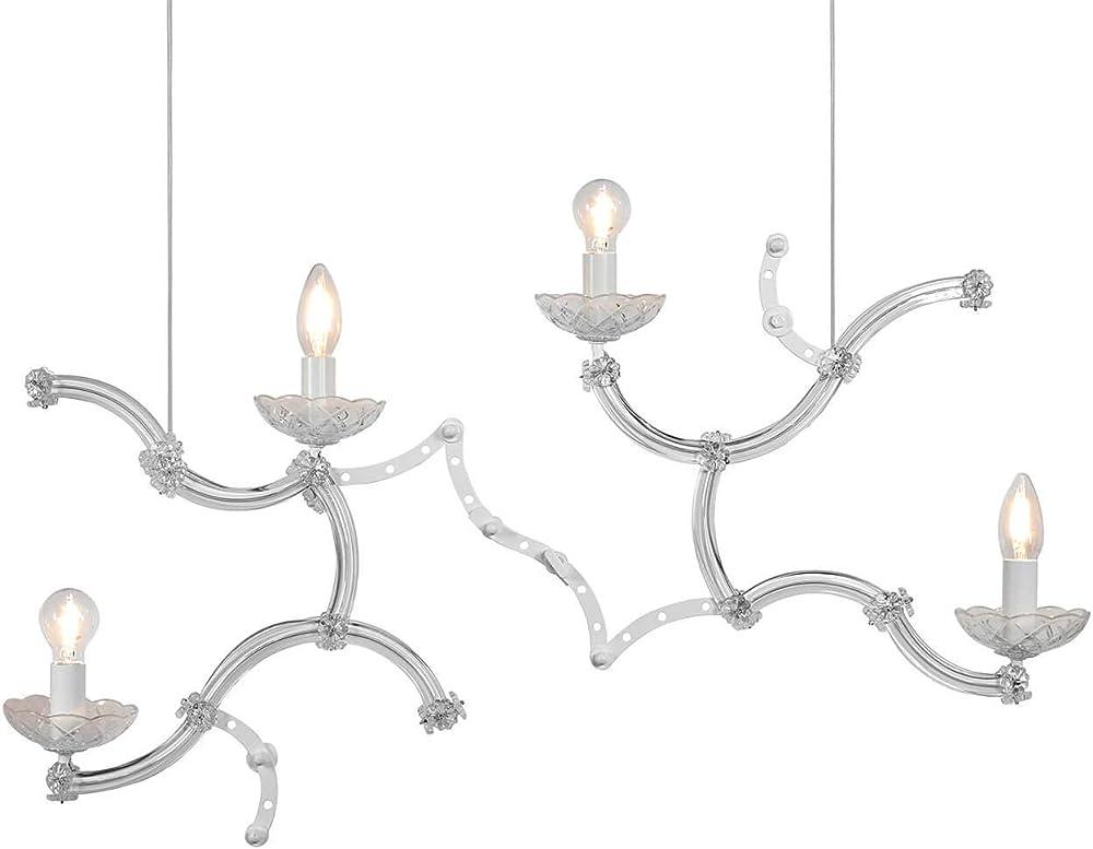 Karman ghebo, lampada a sospensione con 4 sorgenti luminose,in metallo semilucido e vetro SE1462B INT