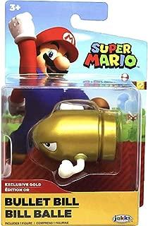 World of Nintendo Gold Bullet Bill Super Mario 2.5 Action Figure