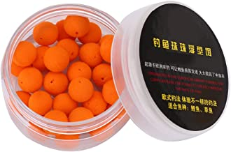 Tbest 30pcs 10/12mm Smell Carp Fishing Bait Foam Pop Up Soft Pellets Boilies Eggs/Floating Ball Beads Feeder Artificial Carp Baits Lure/Hair Rig (12MM-Orange Sweet Potato Flavor)