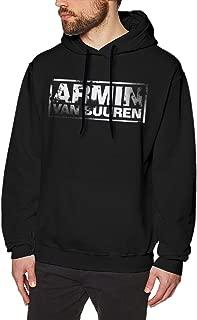Men Long Sleeve Pullover Hooded Sweatshirts Graphic Printing of Armin Van Buuren Comfortable Hooded Sweatshirt Black