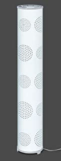 Trango Design & Modern TG1245-BW Lampe sur pied « Waikikiki » avec abat-jour en tissu blanc et motif lune