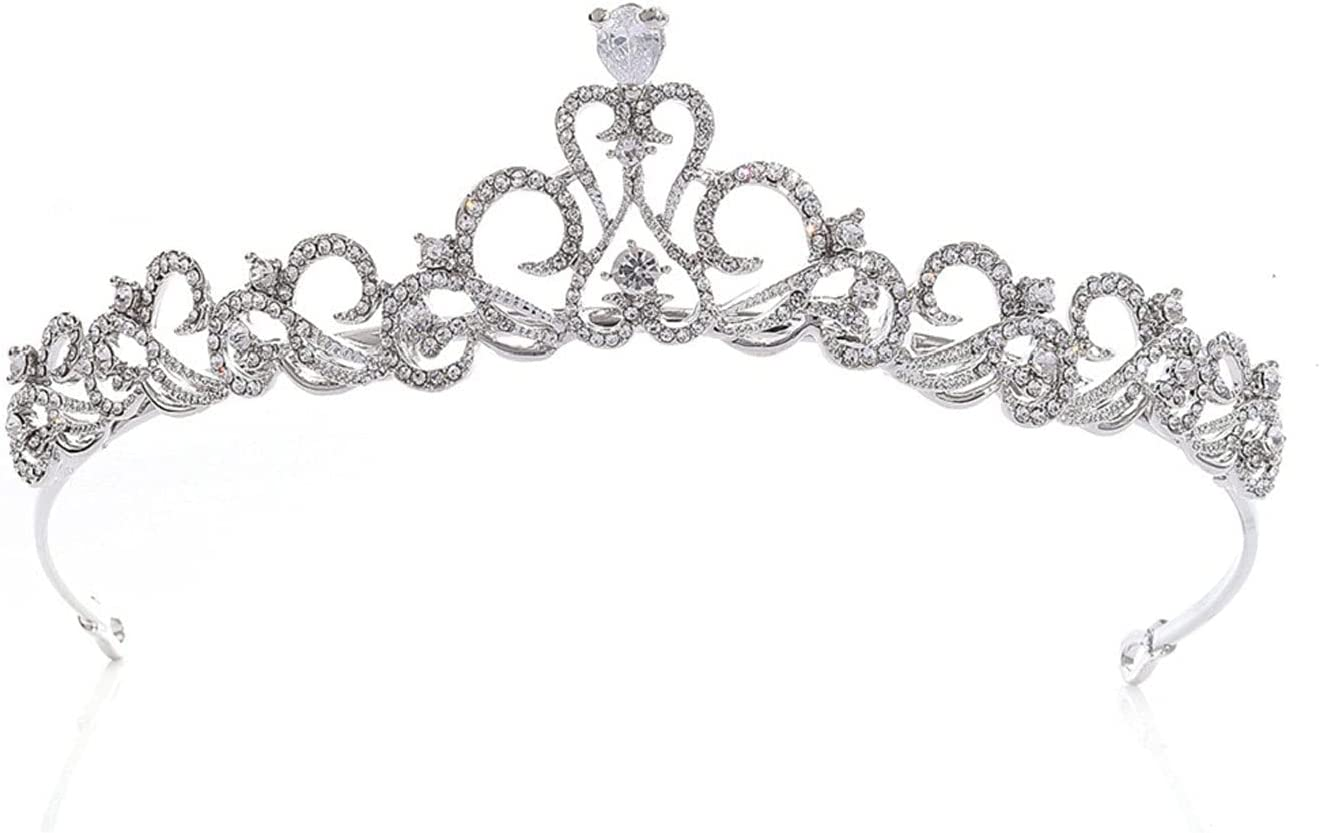 QYYYUNDING Safety and trust Crown Wedding Tiara Bridal with Crystals New product type