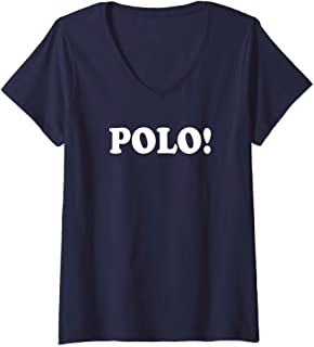 Womens Pool Party Shirts | Funny POLO Marco Polo Beach Party Shirt V-Neck T-Shirt