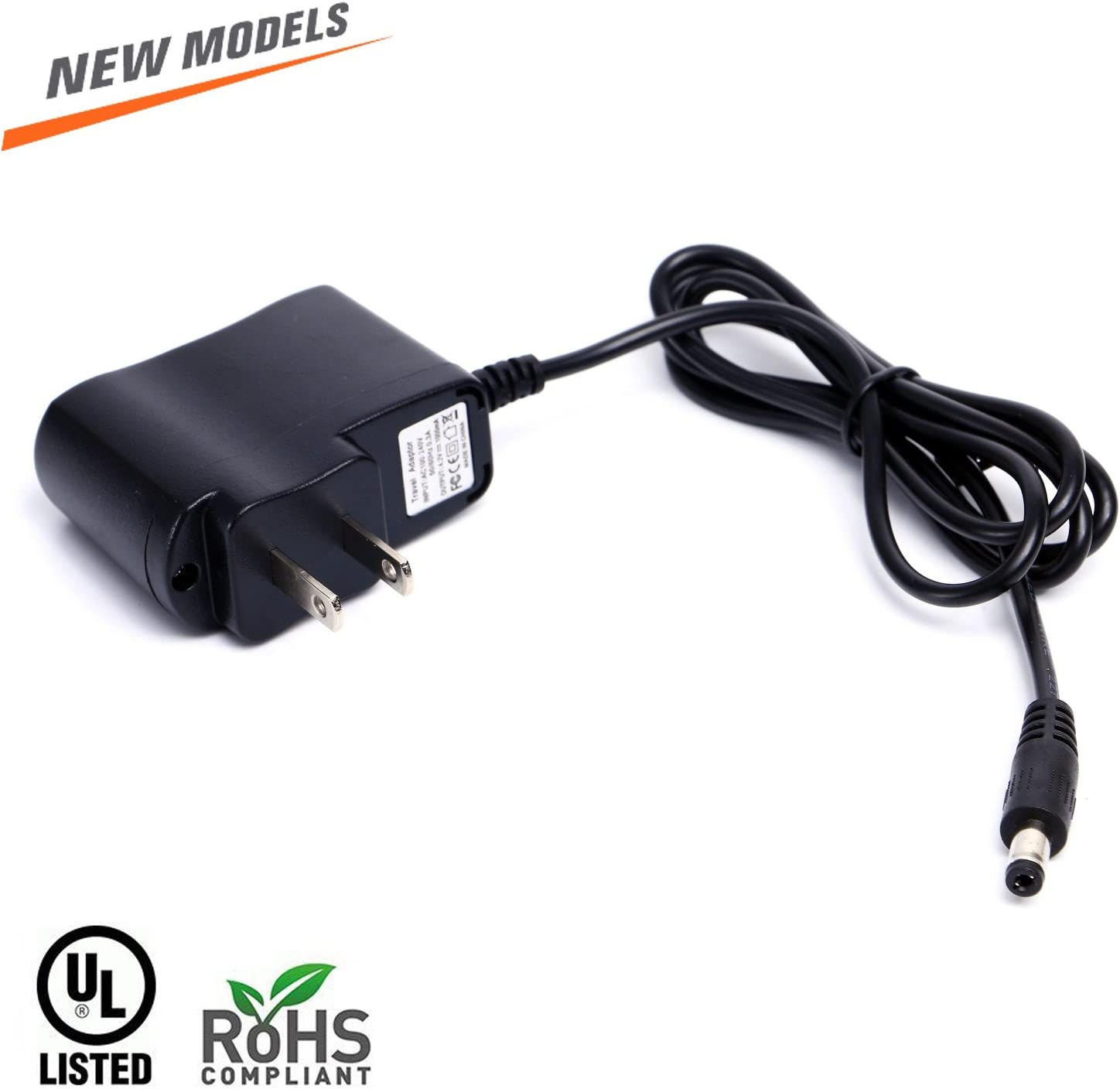 Adapter Power Supply 12V DC 2.1mm ~ 5.5 mm 1Amp UL Listed Suitable for searchlight, Flashlight, Headlight Charging