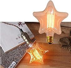 FRCOLOR E27 Screw Base Creative Lamp Bulbs LED Star Love Shaped Retro Light Bulb Edison Vintage Vintage Tungsten Filament ...