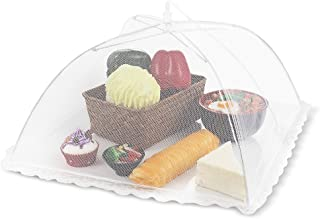 Flexzion Food Cover Tent - Pop Up Mesh Screen Net Umbrella Covers Keep Out Flies, Bugs, Mosquitos, Wasps Pefect for Outdoor Picnic, BBQ, Camping, Fruit Dinner Protection, Reusable and Collapsible