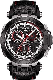 ساعة تيسوت كرونوغراف بسوار احمر للرجال T1154172705101