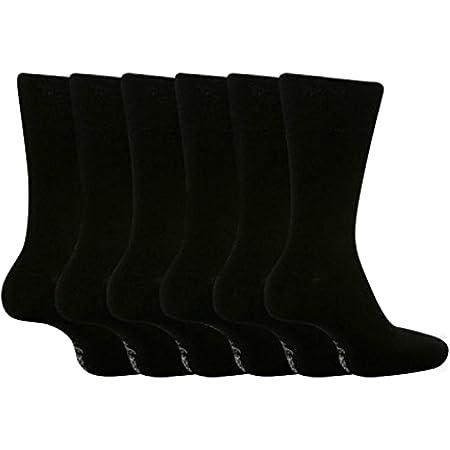 Gentle Grips - Men's Socks Bigfoot Honeycomb Top Cotton Rich Pack of 6, Size 12-14 uk/46-50 eur