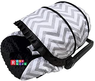 Rosy Kids Infant Carseat Canopy Cover 3 Pc Whole Caboodle Baby Car Seat Cover Kit Cotton C030600