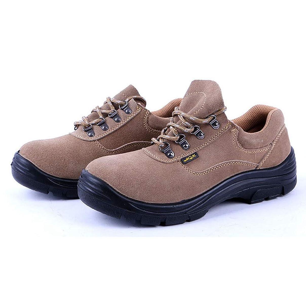 避難炭素僕の[Volerii] 作業靴 保護靴 ワークシューズ メンズ 安全シューズ 耐酸 耐アルカリ 滑り止め加工 つま先保護プレート 抗菌 防臭 疲れにくい 衝撃吸収 防刺 アンチショック 柔らかい履き口 歩きやすい 四季通用