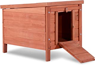 Lovupet Small Wooden Bunny Rabbit Hutch-Guinea Pig House Small Animal House 0325 (Natural)