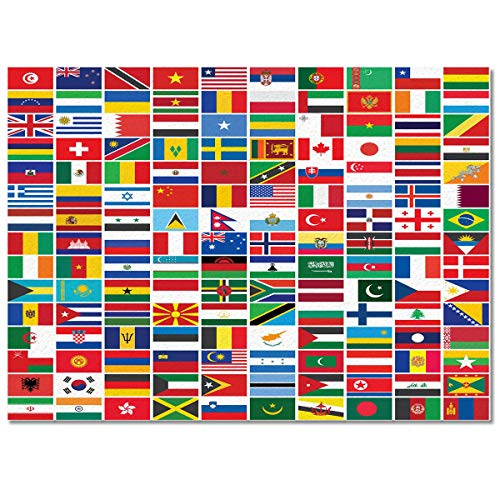 T&H XHome Chic Area Rug Collections-Luxury Ultra Soft Comfort Anti Slippery,Flag of Africa America Argentina Australia Brazil China Modern Carpet Mat Rugs for Indoor/Bedroom/Living Room Decor