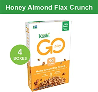 Kashi GO Honey Almond Flax Crunch Breakfast Cereal - Non-GMO | Vegetarian | Bulk Size 14 Ounce (Pack of 4)