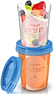 Philips Avent Food Storage Cup (SCF639/05), 6 Months+, 240ml, 5ct