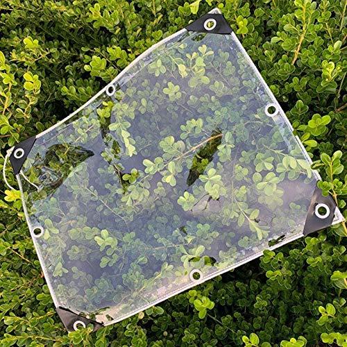 Lonas Impermeable Transparente,Prueba de Viento,A Prueba de Polvo Lona Cubierta,Lona Invernadero Pesada,con Borde Envolvente,Plegable,con Agujero,Espesor 0,3mm,Personalizable(1.4x1.7m/4.6x5.6ft)