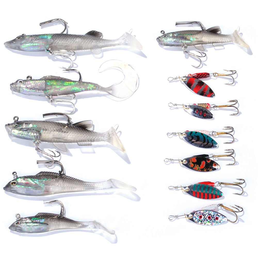 Pack de 24 señuelos de pesca de agua salada mar pesca Crankbait Popper Minnow Bass señuelo pesca: Amazon.es: Deportes y aire libre