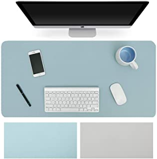 Dual-Sided Desk Pad Office Desk Mat, Ultra Thin Waterproof PU Leather Mouse Pad Desk Blotter Protector, Desk Writing Mat f...