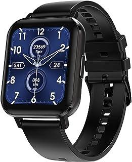 Microwear Montre connectée Bluetooth DTX Fitness Tracker - Cadeau pour hommes, femmes, écran IPS, sport, écran tactile, ét...