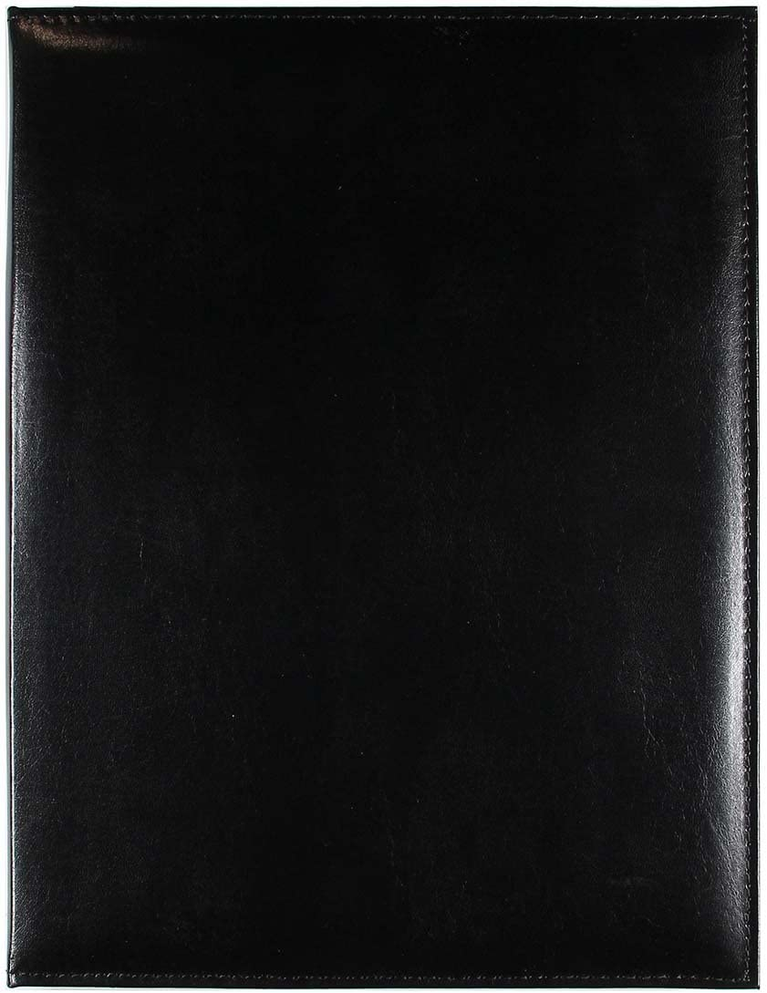 C.R. Gibson Black Leather Padfolio Max 70% OFF In a popularity Notepad 9.5' Legal with Size