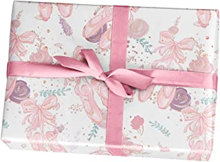Ballerina Birthday Wrapping Paper Gift Sheets, 10 Pack of 11x17 inch Sheets, Handmade from Texas