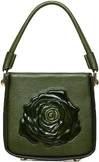 Shoulder Bag Shoulder Messenger Bag Lady Retro Fashion Handbag Clutch (Color : DarkGreen, Size : One Size)