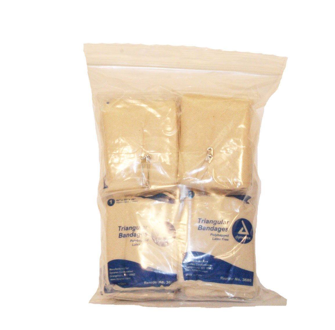 First Voice TS-3680 Latex Free Triangular Bandage with Safety Pi