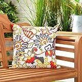 Gardenista Cojín Relleno Resistente al Agua y para Exteriores | Diseño con Patrones Coloridos | Accesorio para Muebles de Jardín| Almohadas Decorativas de | 45 x 45 cm (Floral Multi)