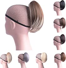 Oubeca Synthetic Claw Clip Ponytail Extensions Straight Short Pony Tail Hair Pieces for Women (M2-33)