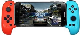 BESTSUGER Controlador de Juegos para teléfono Inteligente, Gamepad telescópico Asignación de Teclas Control de Juego con puntería con Joystick Flexible para Android iOS
