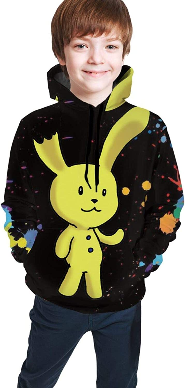 Five Nights at Freddy Youth Boys Girls 3D Print Pullover Hoodies Hooded Seatshirts Sweaters 10-12 Years Black