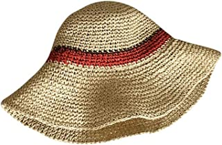 Hats Travel Sunscreen Straw Hat Hat Female Spring and Summer Wild Beach Hat Fashion (Color : Beige, Size : 56-58cm)