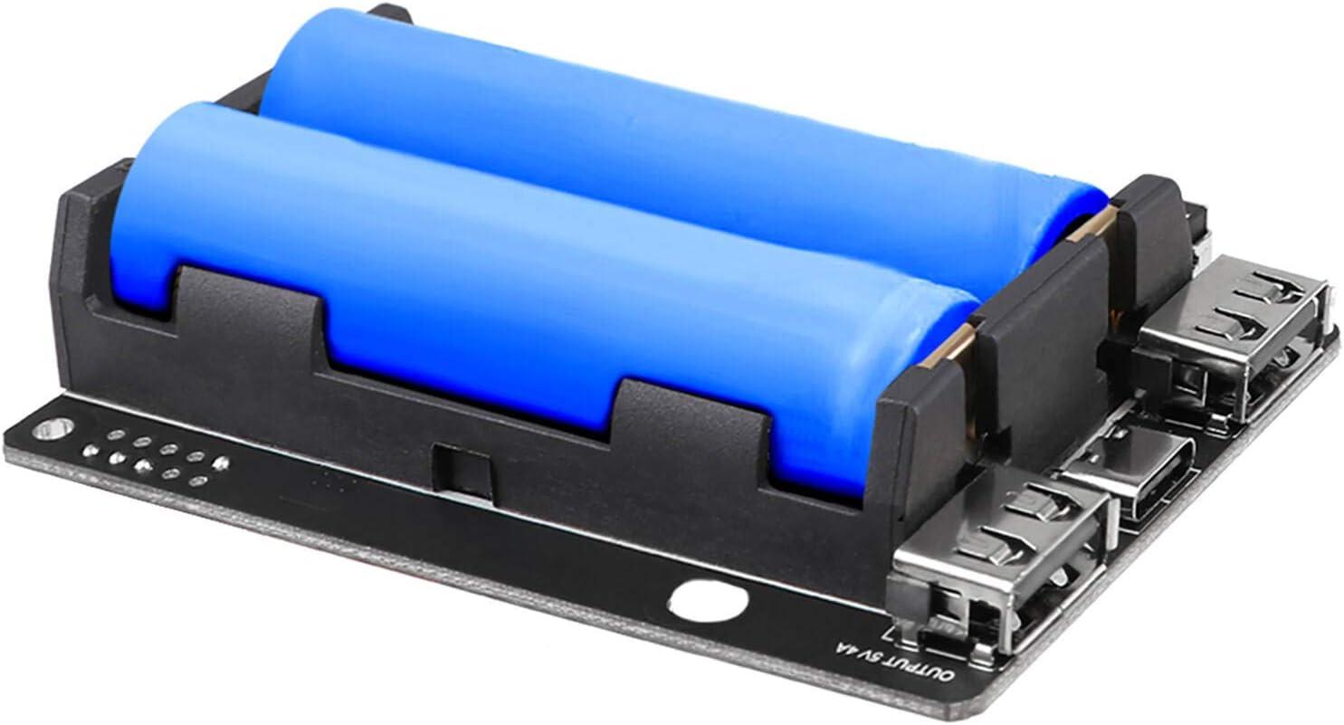 Innovateking-EU Raspberry Pi UPS Fuente de alimentación UPS ininterrumpible Hat 18650 Cargador de batería Power Bank 5V para Raspberry Pi 4B / 3B+ / 3B