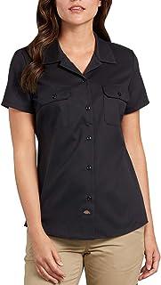 Dickies Women's Short-Sleeve Flex Work Shirt