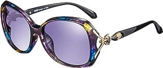 Retro Vintage Stile Lennon rezi Occhiali da Sole Donna Occhiali da Sole Polarizzati Unico Piccolo Telaio in Volpe in Metal- Diversi Colori Lente in Nylon con Protezione Anti-riflesso UV400