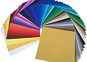 """ORACAL Starter Pack Oracal 651 12"""" X 12"""" Self Adhesive Vinyl Sheets. (61 Colors). for Cricut, Silhouette Cameo, Craft Cutt..."""